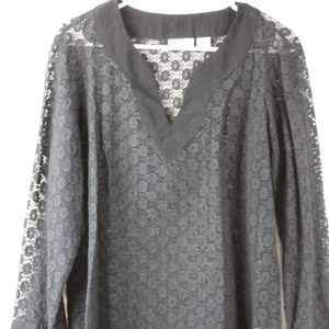 Women's Black Long Sleeve Blouse, LizClaiborne, XL